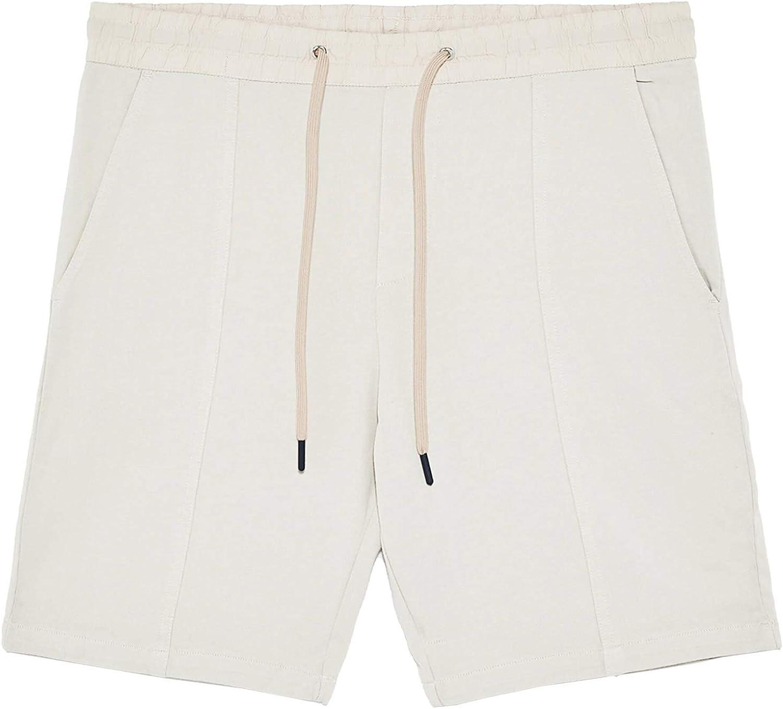 Zara 0701/400/710 - Bermudas para hombre beige L: Amazon ...