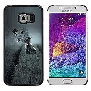 Cover for Samsung Galaxy S6 EDGE dark side pole vorony devushka