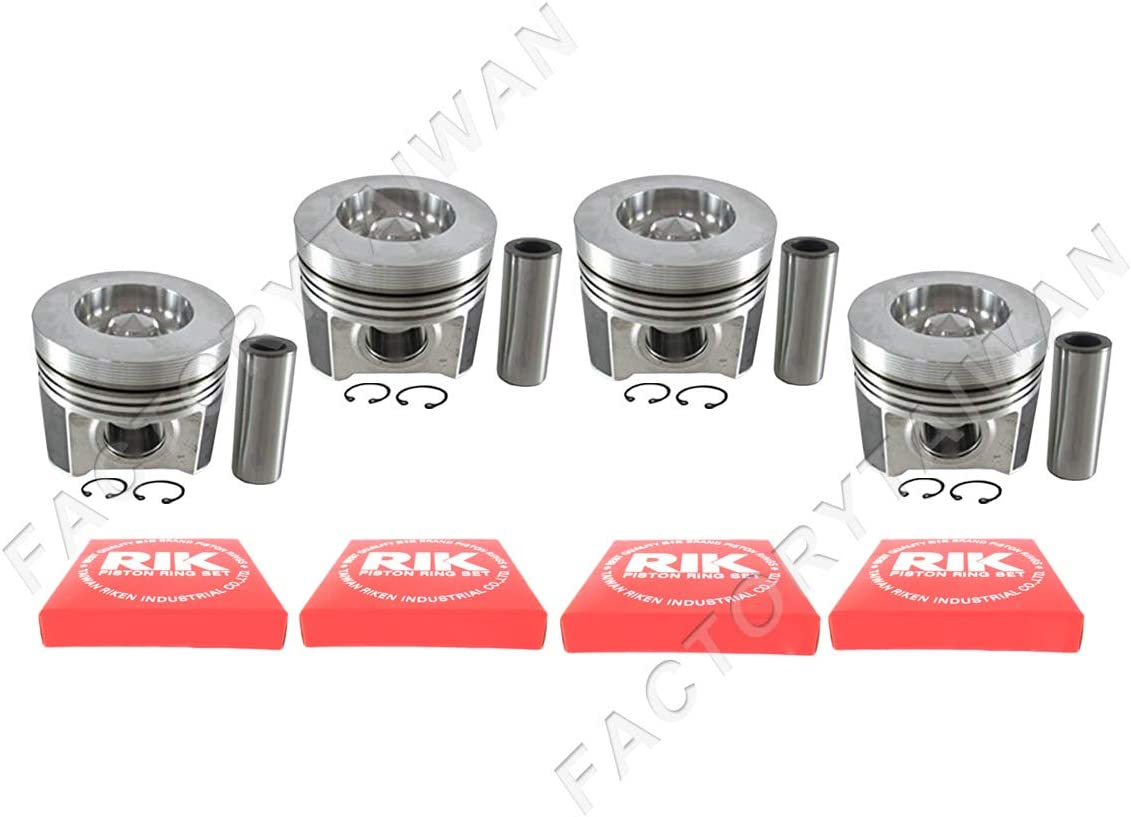 100/% Taiwan Made Piston Ring Kit Set STD 98mm for Kubota V3300-DI-E X 4 PCS