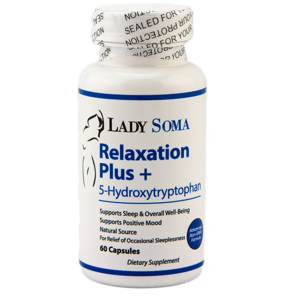 Amazon.com: Relajación Plus + 5-Htp Suplemento para positivo ...