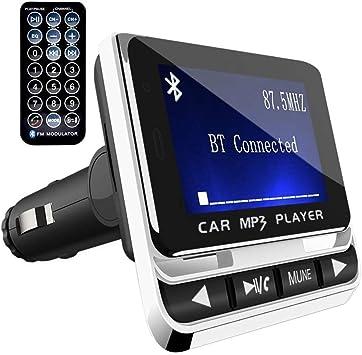 Auto Bluetooth FM Transmitter KFZ Radio MP3 Musik Player 2 USB Adapter Car Kit