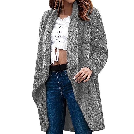 ASHOP Ropa Mujer, Chaquetas de Mujer Casual Formal Moda Informal más Gruesa Slim sólido Abajo Caliente y Esponjoso Top: Amazon.es: Ropa y accesorios