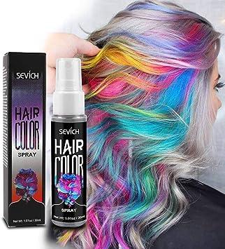 Spray de color para el cabello temporal para el cuerpo, spray ...