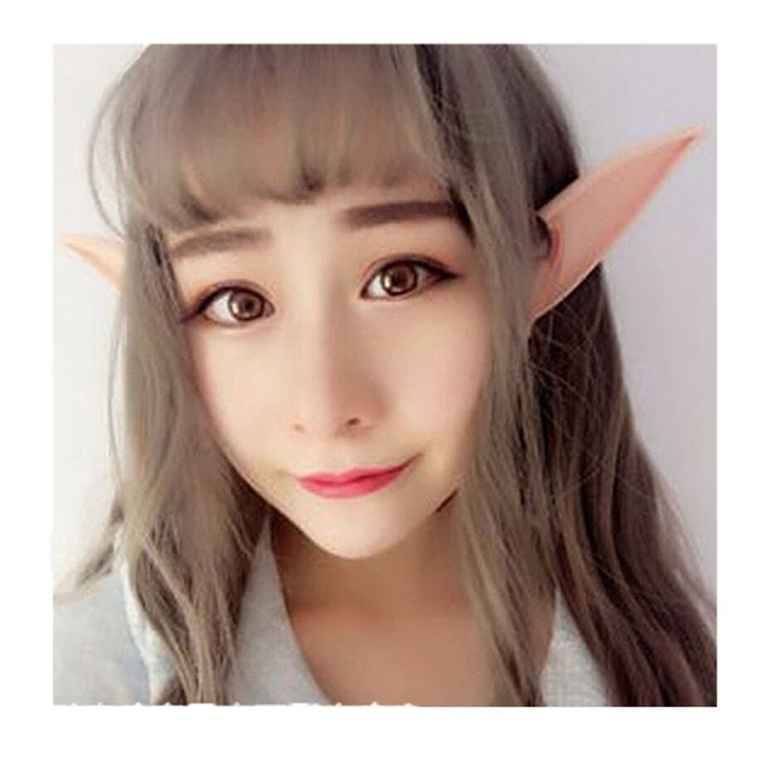 Edtoy 1 Pair Halloween Cosplay Costumes Pointed Prosthetic Ear Tips