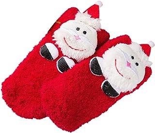 LUOEM Socken Kinder Socken Herbst Und Winter Verdickung Cartoon Socken Rutschfeste Halten Warme Socken (Santa)