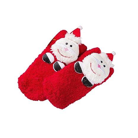 LUOEM Calcetines Calcetines para niños Otoño e Invierno Calcetines de Dibujos Animados con Engrosamiento Antideslizante Mantenga