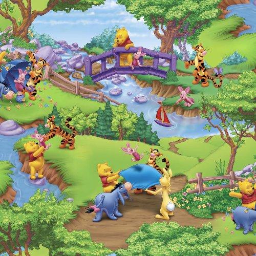 Disney Disney Winnie The Pooh, 44-Inch Wide Cotton Cut Fabric, 2-Yard