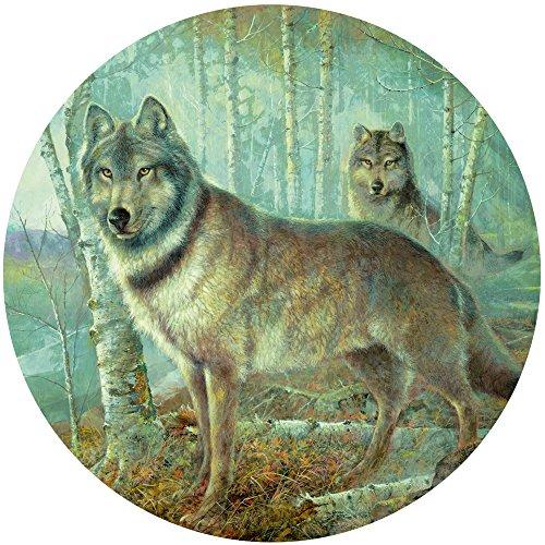 300 Piece Round Jigsaw Puzzle - Soul Mates - Wolf Jigsaw
