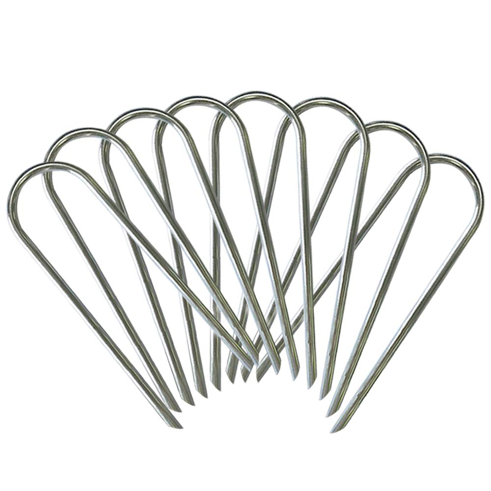 Eurmax Trampolines Wind Stakes 0.35 Inch Heavy Duty Stake Safety Ground Anchor Galvanized Steel Wind Stakes, 8pcs-Pack by Eurmax