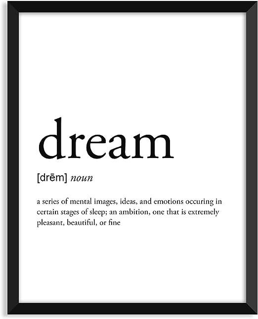 Sleeping Definition Poster Nordic Print Wall Art Home Decor Gift Unframed