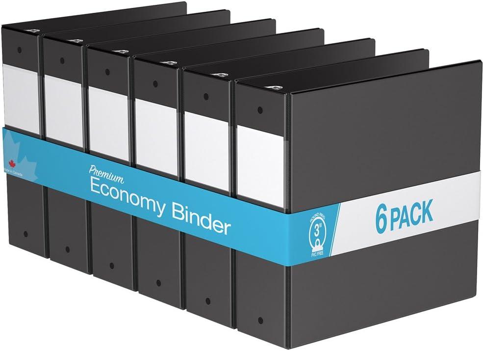 Premium Economy, Round Ring, Binder, 6 Pack (3
