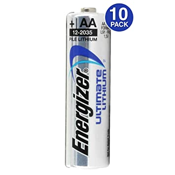 Batteries For Less >> Energizer Ultimate Lithium Aa Batteries World S Longest Lasting Aa Battery 10 Pack