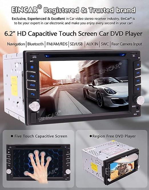 Eincar Double Din Car Radio 6 2 Inch Touch Screen Elektronik