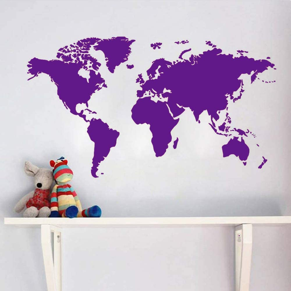 guijiumai Atlas World Map Wall Sticker Decoración Creativa de la ...