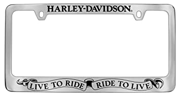 harley davidson live to ride ride to live slogan license plate