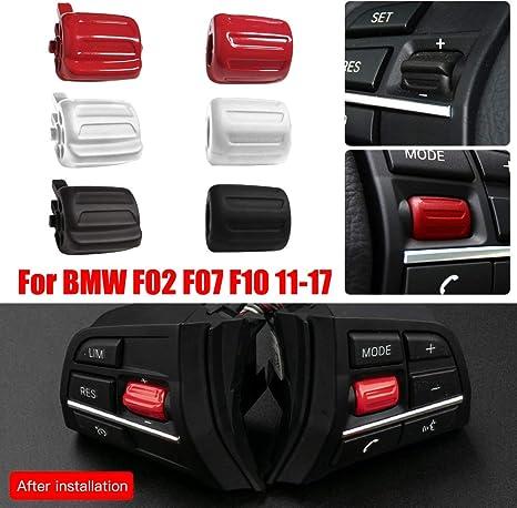 HELLOGIRL Boutons de Commutateur de Volant de Voiture pour BMW F02 F07 F10 11-17