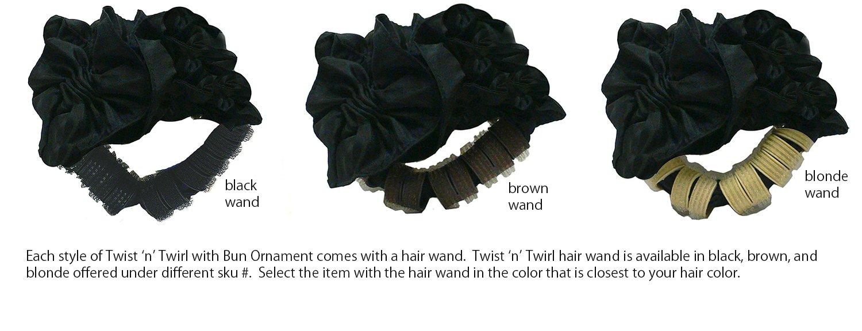Twist n Twirl - Molde para moño con moño de tela (satén): Amazon ...