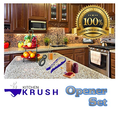 kitchen appliance combo set jar lid bottle opener function gadget pull tab seal remover nirlep of 4 50 pcs