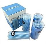 Yimart 400pcs Blue Regular Size 3mm Disposable Mascara Applicator Individual Eyelash Extension Microbrushes