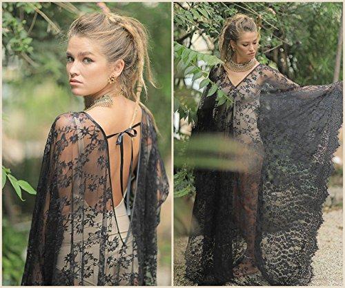 Soft Lace Caftan Dress, Beach Dress, Bridal Kaftan Dress