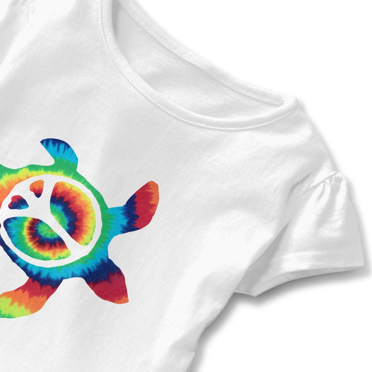 QUZtww Trippy-iphone-6-wallpaper-11642067 Toddler Baby Girl Basic Printed Ruffle Short Sleeve Cotton T Shirts Tops Tee Clothes White
