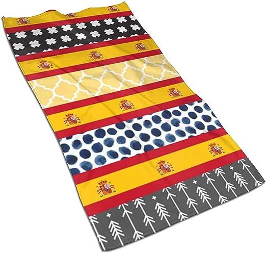 mallcentral-EU Bandera de España y Flechas Cruzadas Toallas de Quatrefoil Toallas de Microfibra Cara Absorbente Secado rápido 30cmx70cm: Amazon.es: Hogar