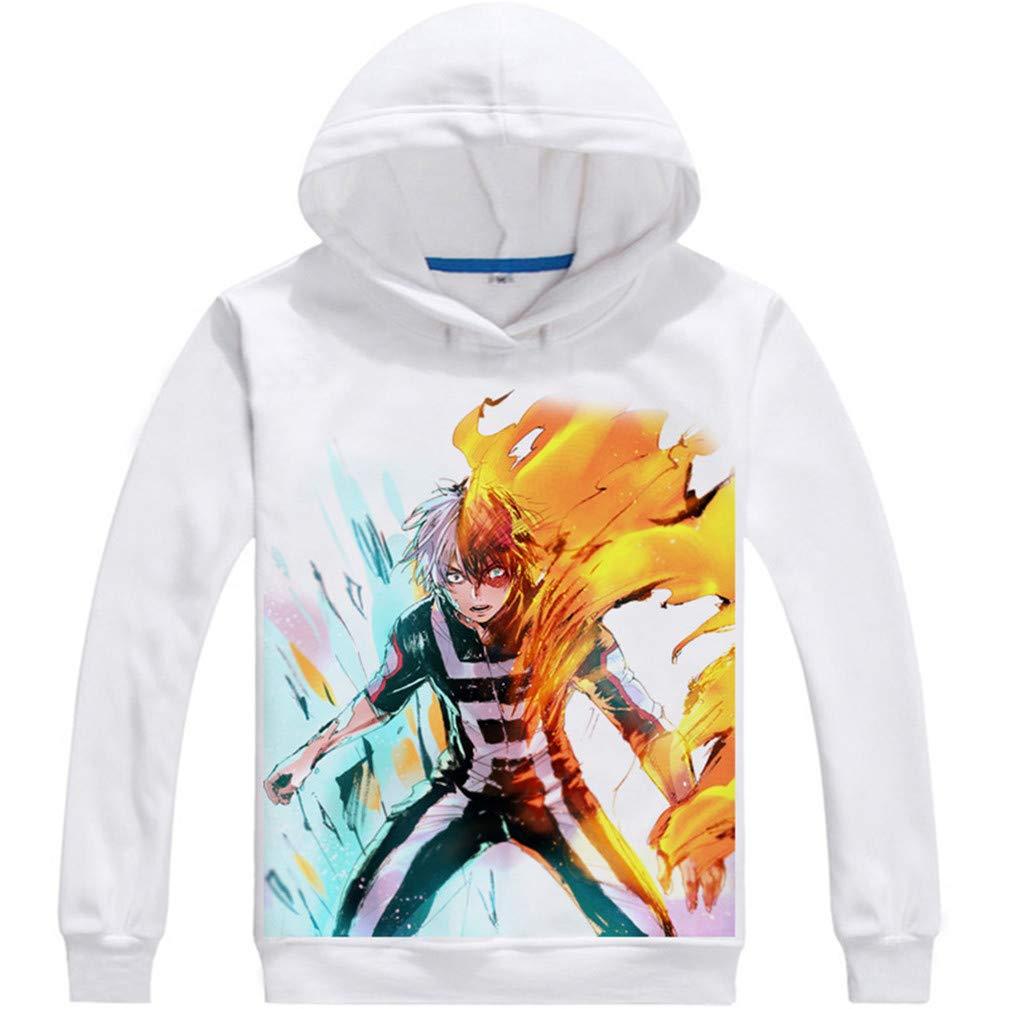 Cosstars My Hero Academia Anime Hoodie Sweat /à Capuche Adulte Cosplay Pullover Sweatshirt Manteau Tops