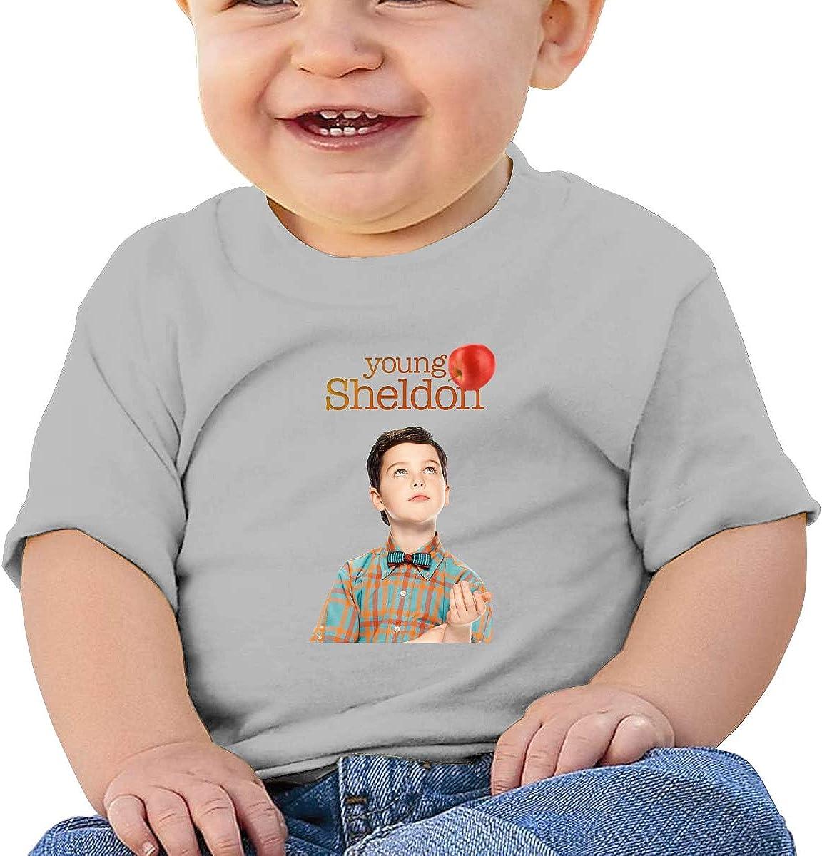 Honshang Young-Sheldon Short-Sleeve Gray Tshirts for Infant Tshirts