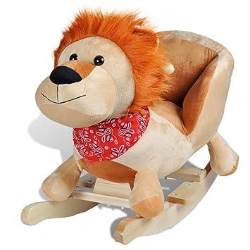 vidaXL Lion à Bascule pour Bébés Peluche