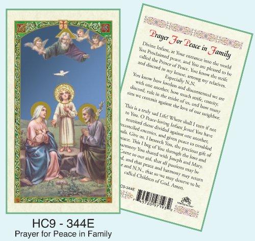 Amazon com: Prayer for Peace in the Family Laminated Prayer