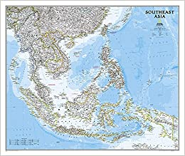 Countries Of Southeast Asia Map.Southeast Asia Classic Tubed Wall Maps Countries Regions