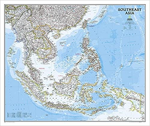 National Geographic: Southeast Asia Classic Wall Map (38 x 32 inches ...