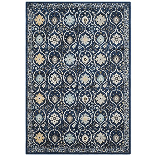 picture of Safavieh Evoke Collection EVK210A Area Rug, 6-Feet 7-Inch by 9-Feet, Royal