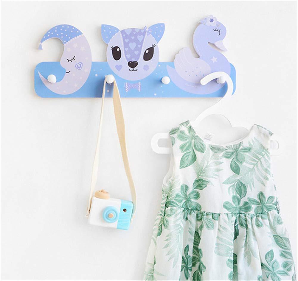 crochets pour chambre denfant, animaux de la for/êt et voiture crochets muraux Portemanteau pour enfant avec 4 crochets porte-manteaux crochets muraux