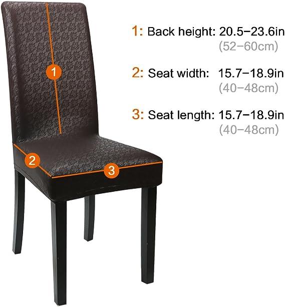 4 unidades piel sint/ética Oraunent Funda protectora impermeable para silla de comedor color champ/án