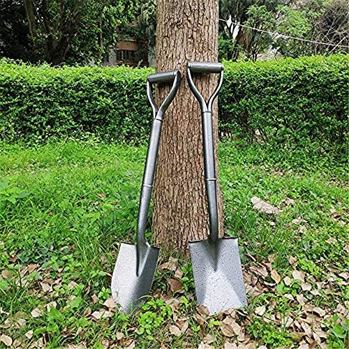 JXYNB Digging Shovel, Mini Gardening Shovel with Cushioned D-grip, Heat-treated Rust-resistant Solid Steel Blade, a Tremendous Strength