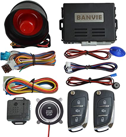 Amazon Com Banvie Car Alarm System With Remote Start And Smart Push Start Button Car Electronics