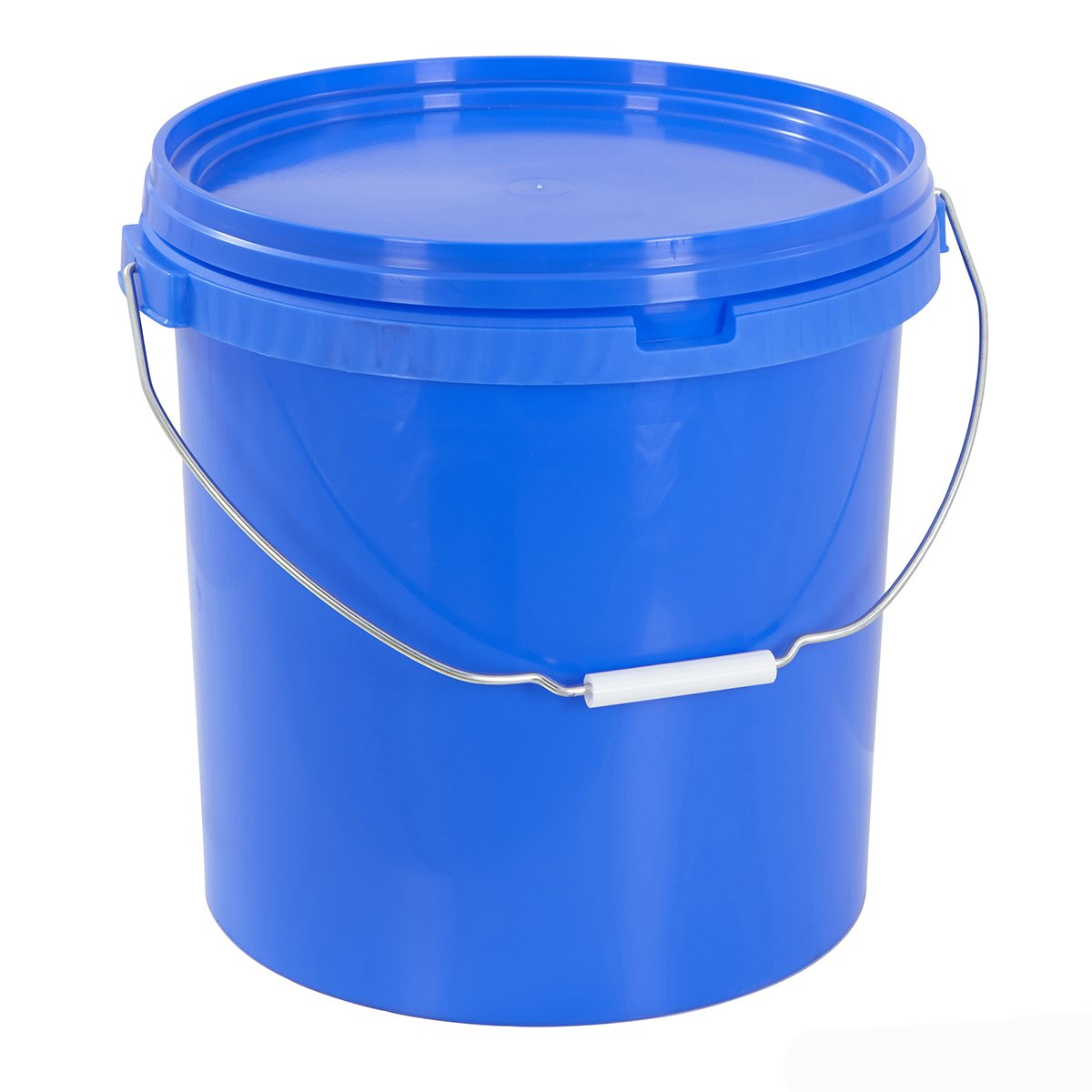 Round Plastic Buckets Storage Containers With Lids Hard Wearing Gardening Home - Various Colours/Sizes (Single 20 Litre Black Bucket)) BiGDUG