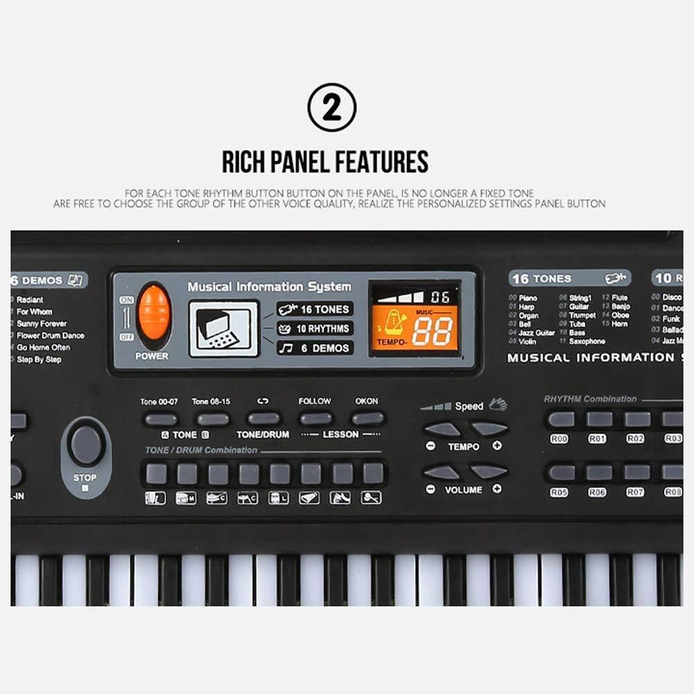 Muslady 61 Keys Black Digital Music Electronic Keyboard Key Board Electric Piano Kids Gift Musical Instrument by Muslady (Image #8)