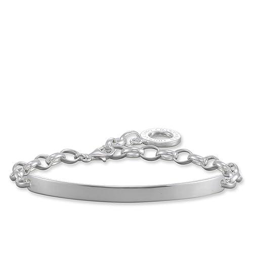 Thomas Sabo Damen-Charm-Armband Charm Club 925 Sterling Silber Länge 19.5  cm Brücke 5 cm X0211-001-12-L19,5v  Amazon.de  Schmuck accaf7bd04