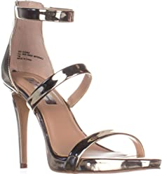 Inc International Concepts Womens Sadiee Leather Open Toe Casual Ankle Strap