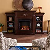 Southern Enterprises SEI Tennyson Electric Fireplace with Bookcases, Espresso