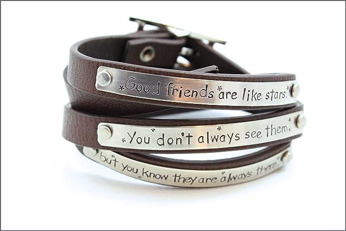 Amazon Com Personalized Gift For Friend Friendship Bracelet
