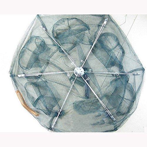 Big size 6holes 80cm 100cm foldable crab fish pot crawdad for Fish trap net
