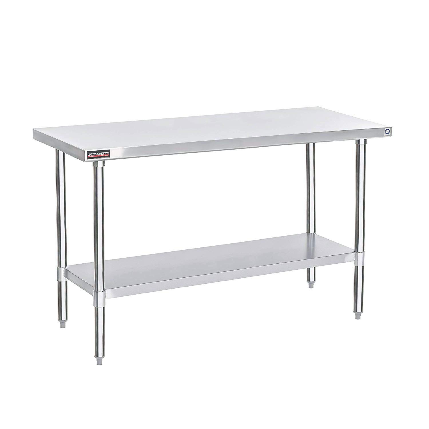 DuraSteel Stainless Steel Work Table 30'' x 72'' x 34'' Height - Food Prep Commercial Grade Worktable - NSF Certified - Fits for use in Restaurant, Business, Warehouse, Home, Kitchen, Garage