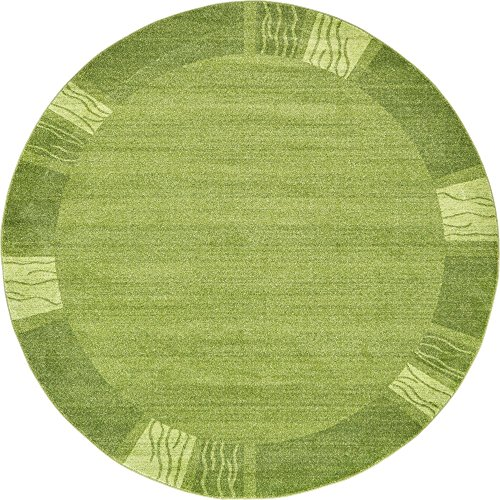 Green 8' Round Area Rug - 9
