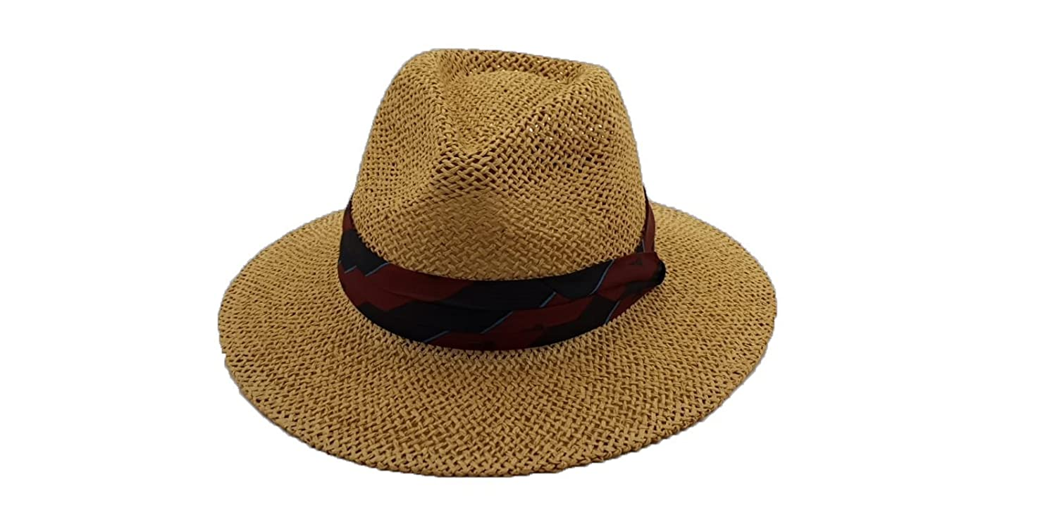 d298012419d Macahel Summer Unisex Straw Fedora  Amazon.co.uk  Clothing