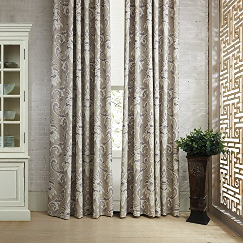 100''W x 96''L (Set of 2 panels) Multi Size Available Custom Modern Country Rustic Floral Cotton Polyester Blend Print Grommet Top Energy Efficient Window Treatment Draperies & Curtains Panels by MICHELE HOME FASHION