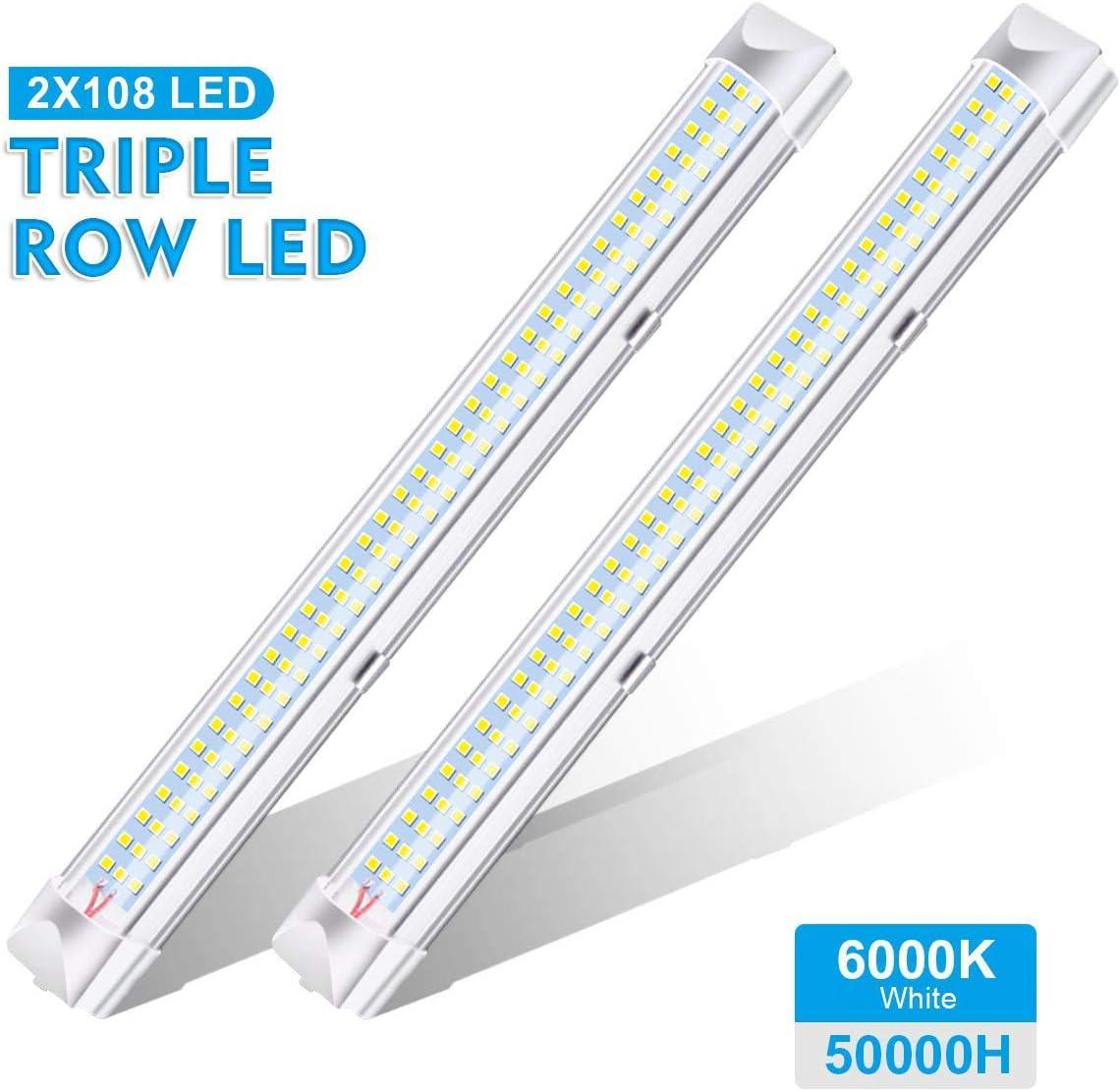 Wei/ß 3er Pack AMBOTHER 3x 72 LED Innenbeleuchtung LED Innenraumbeleuchtung 12V LED Lichtleiste Unterbauleuchte Einbauleuchte LED Innenleuchte Leselampe Leuchtstofflampe f/ür Camping Schrank Regal