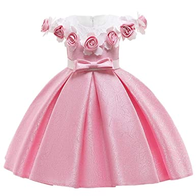 Vestidos Hpplkids Para Niñas Vestido Elegante De Princesa